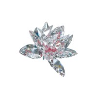 Preciosa Crystal Lotus Flower with Pink Center ...