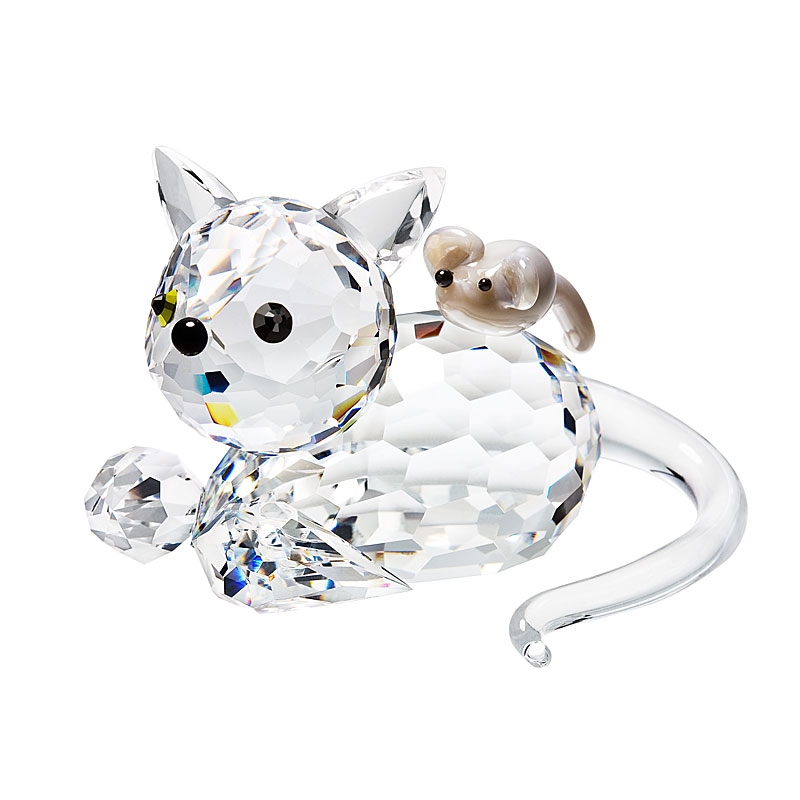 crystal cat and kitten
