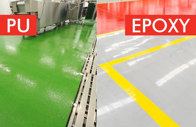 Polyurethane Top Coat Over Epoxy