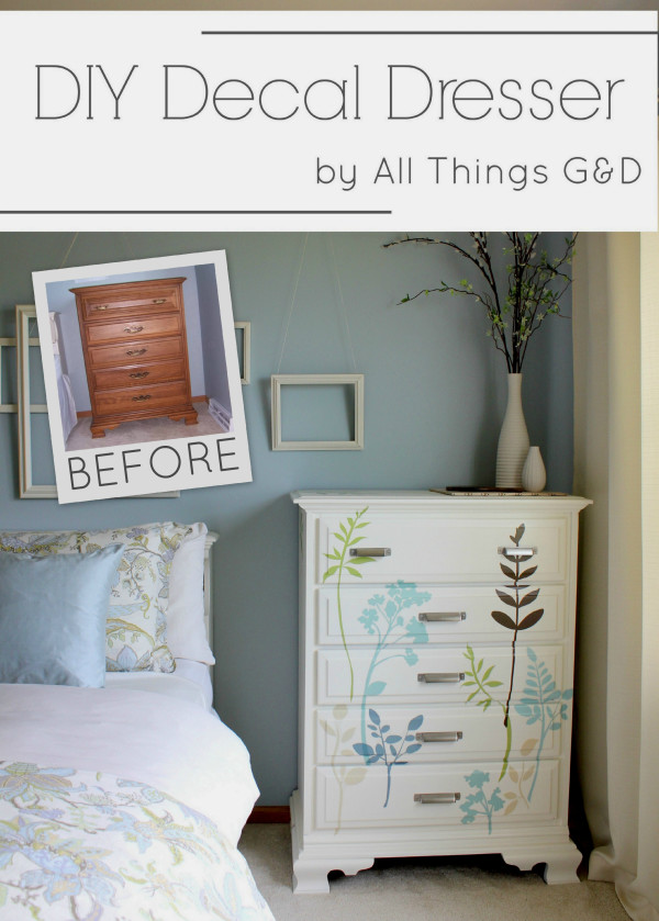 DIY Decal Dresser All Things GampD