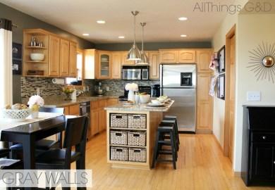 Gray Wall Paint Kitchen