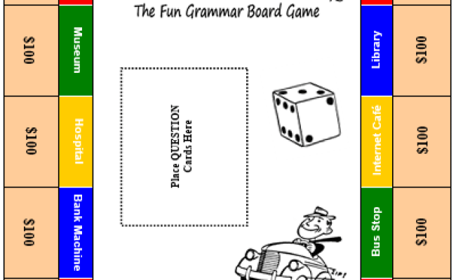 Grammar City Free Grammar Board Game All Things Grammar