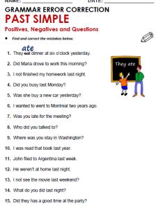 Grammar worksheet also past simple all things rh allthingsgrammar