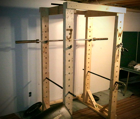 Homemade Wooden Power Rack All Things Gym