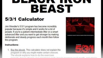 StrengthCalc Routine & Diet Aggregator / Calculator - All