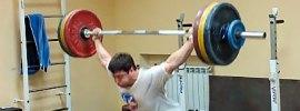 Vladislav Lukanin 150kg Snatch Pull Power Snatch