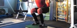110kg Barbell Weighted Box Jumps