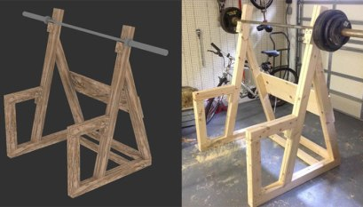 Strange Homemade Wooden Power Rack All Things Gym Pabps2019 Chair Design Images Pabps2019Com