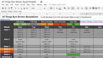 weight lifting excel template