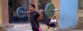 Mohamed Ehab Weighted Barbell Broad Jumps
