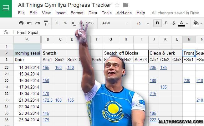 ilya ilyin 2014 progress tracker spreadsheet all things gym