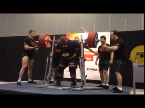 Jezza Uepa 415kg Squat All Things Gym