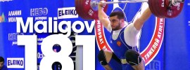 Adam Maligov 181kg Snatch, 220kg Clean and Jerk, 2016 Russian Weightlifting Championships