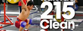 Tian Tao 215kg Clean 2015 Worlds Training Hall *Full Session*