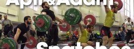 Apti Aukhadov & Adam Maligov Snatch Session before Russian Championships