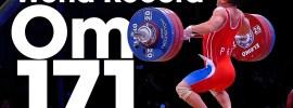 Om Yun Chol 171kg Clean and Jerk World Record + Wu Jingbiao 139kg Snatch WR