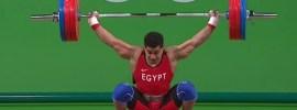 Mohamed Ehab 165kg Snatch 2016 Olympi Games