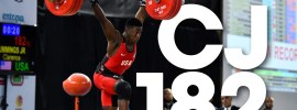 Clarence Cummings 182kg Clean and Jerk Youth World Record