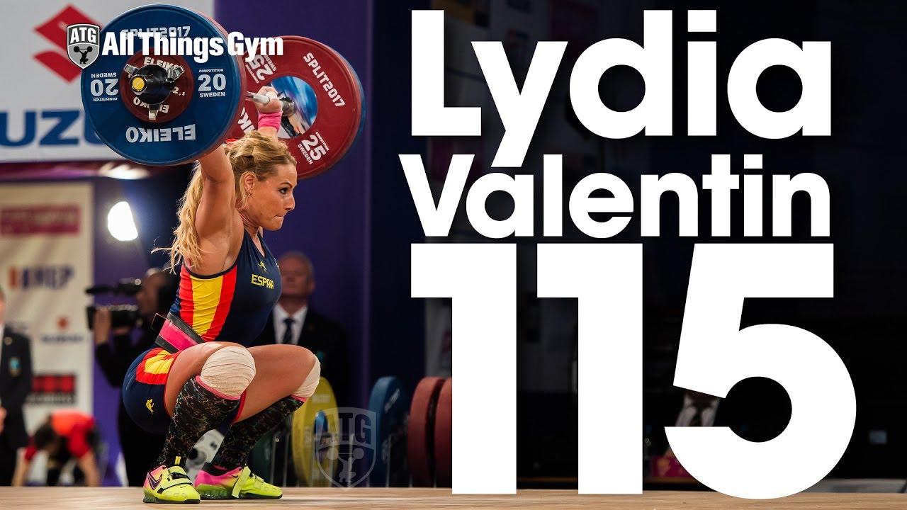 Lydia Valentin 115kg Snatch + 137kg Clean U0026 Jerk 2017 European Champion