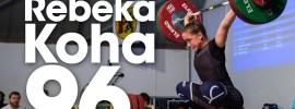Rebeka Koha 96kg Snatch PR + 118kg Clean & Jerk 2017 Meissen Cup