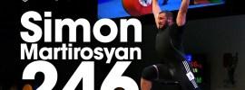 Simon Martirosyan 235kg Clean & Jerk + 246kg Junior World Record Attempt