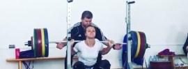 Loredana Toma (63kg) 170kg x3 Squat