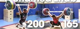 Mohamed Ehab 165kg Snatch + 200kg Clean & Jerk in Training (October 2017)
