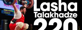 Lasha Talakhadze 220kg Snatch World Record