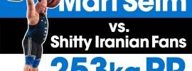 "Mart Seim vs. Shitty Iranian ""Fans"" 253kg Clean & Jerk PR"