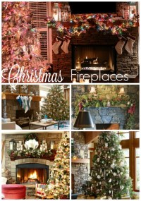 Stone Fireplaces Decorated for Christmas - All Things ...