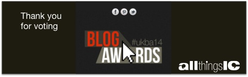 Thank you for voting in National UK Blog Awards