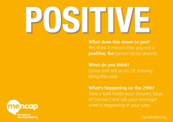 POSITIVE value postcard design - back