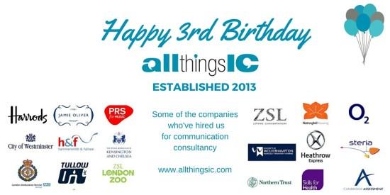 Happy Birthday All Things IC