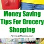 4 Money Saving Tips For Grocery Shopping All Things Mamma