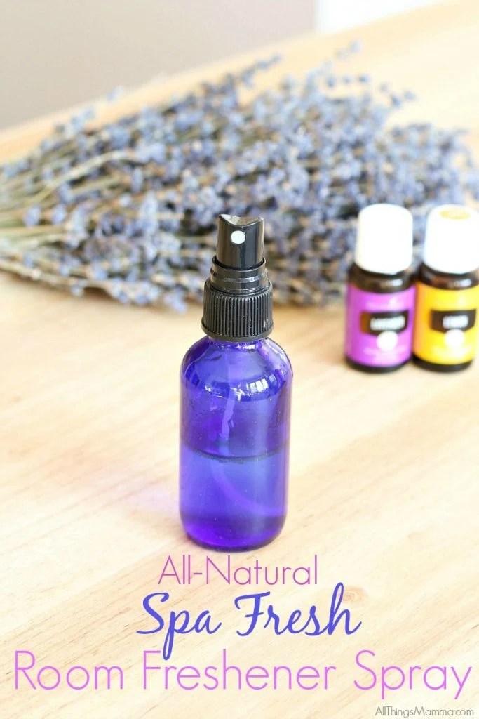 Spa Fresh Room Freshener Spray Using Essential Oils  All