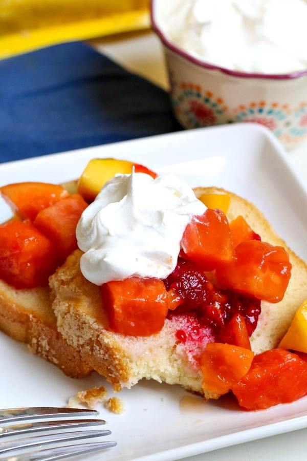 Pound Cake with Fruit and Whipped Cream All Things Mamma