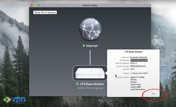 Connect to your Apple Airport through the Airport Utility
