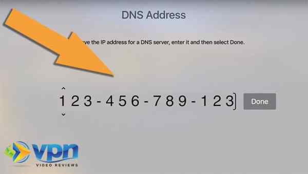Enter the 12-digit DNS number that you received from ExpressVPN