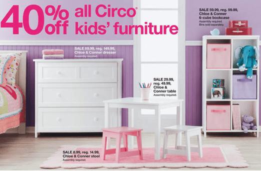 Target  Targetcom 40 off All Circo Kids Furniture