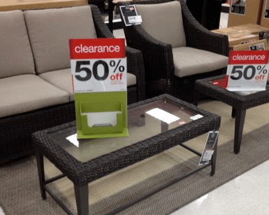 target furniture clearance online