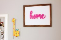 DIY Reverse Canvas Word Wall Art | All Things Target