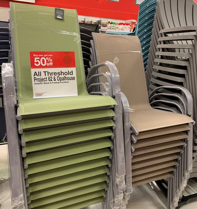 Outdoor Stacking  Folding Furniture Buy One Get One 50