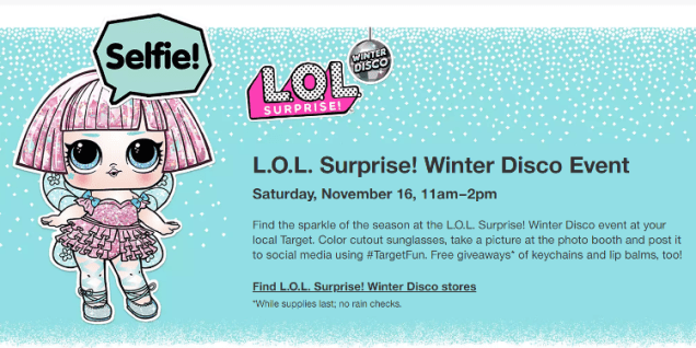 Image result for l.o.l. surprise winter disco event
