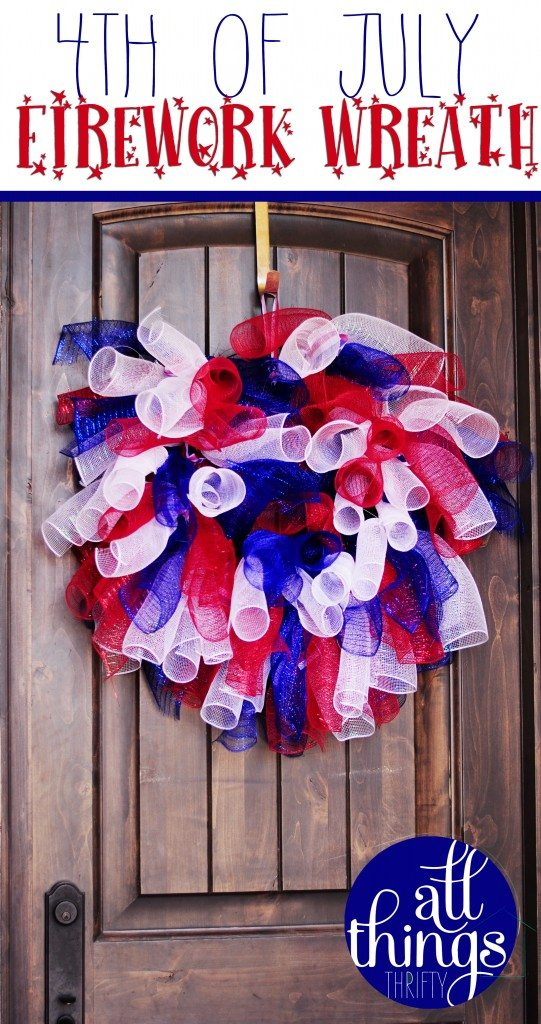 4th of July Wreath & the Ultimate Red, White and Blue Round