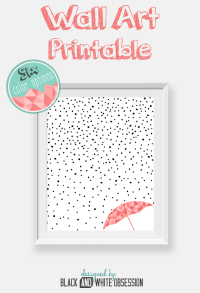Free Printable: Rain and Snow Wall Art | All Things Thrifty