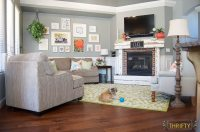 Coral and Green Great Room Reveal | All Things Thrifty
