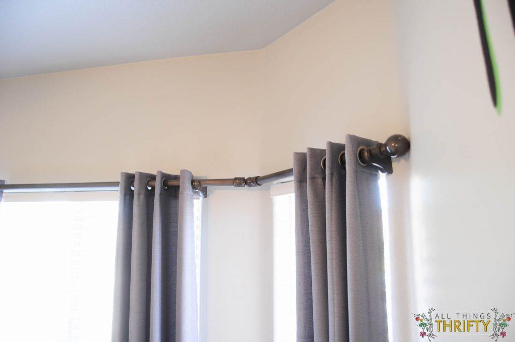 diy bay window curtain rod all things