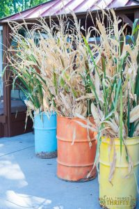 Fall Outdoor Decor Ideas with Fall Barrels