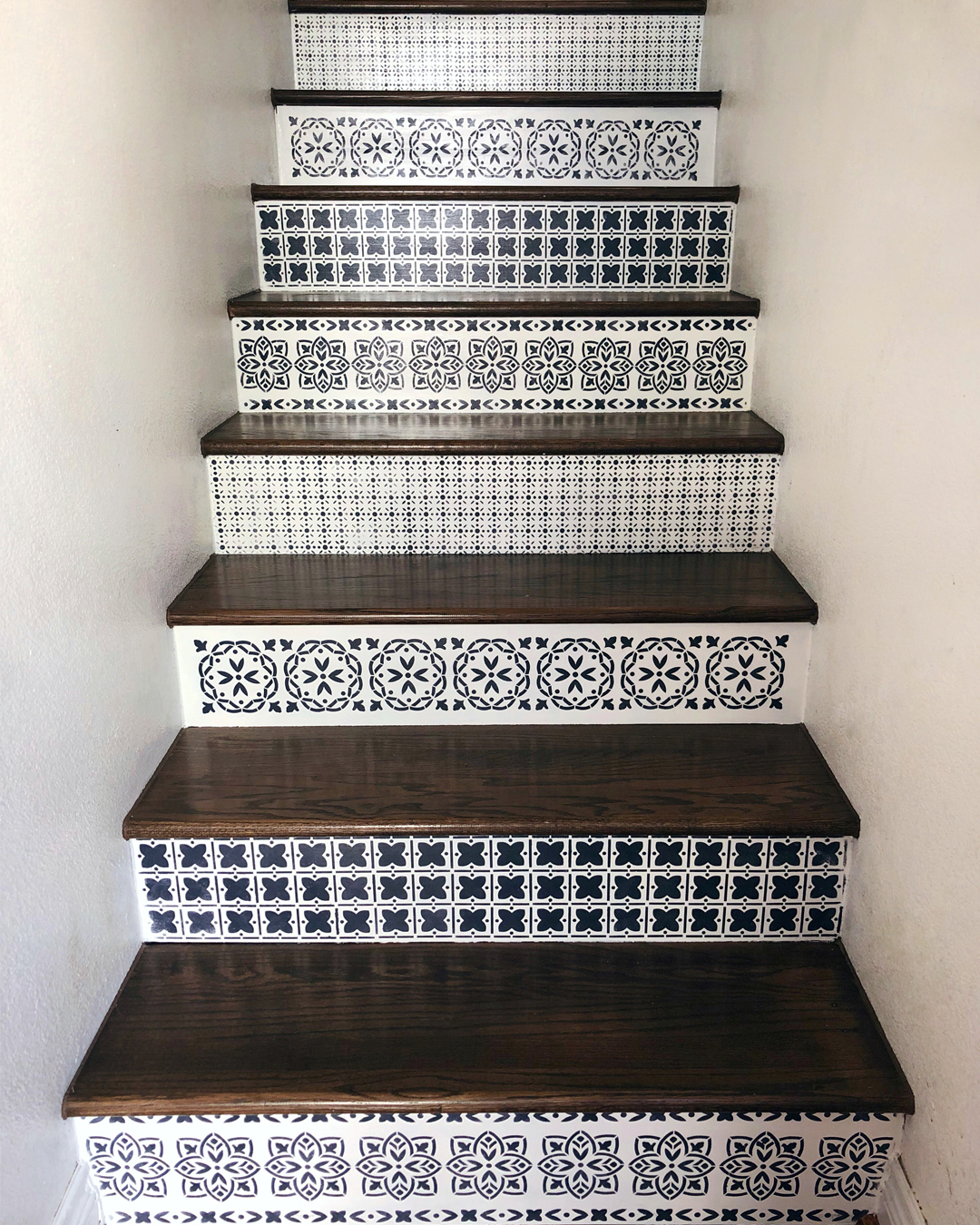 How To Update Wood Stairs With Chalk Paint All Things