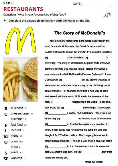 Fast Food Restaurants Essay